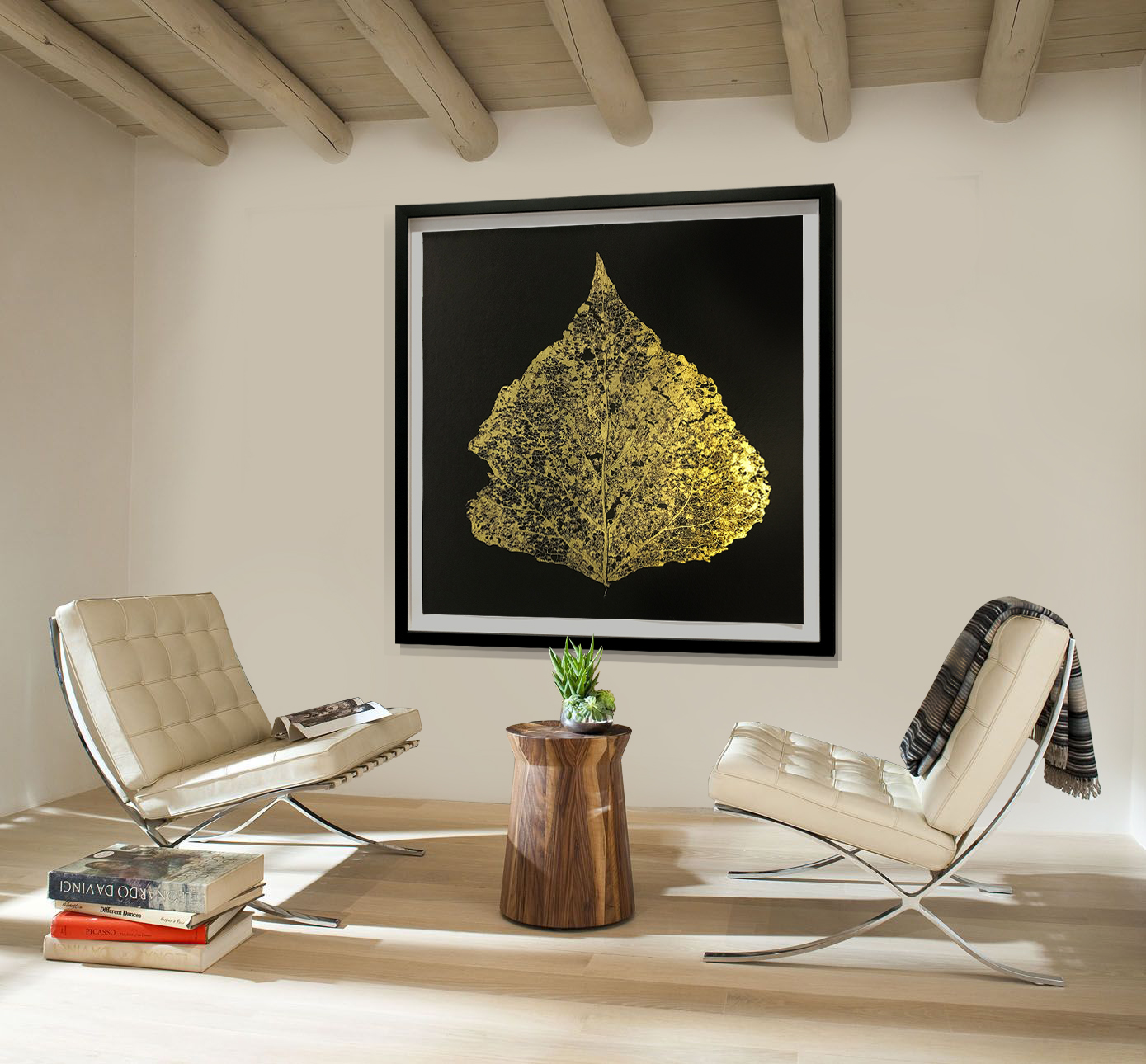 Gold Leaf 1, Installation. Alternative sizes available