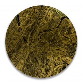 Contour Curve Tigne, UV treated ink on Gold leaf hand gilded to 3mm aluminium composite panel